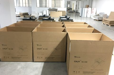 warehouse of finished sheet label cutter