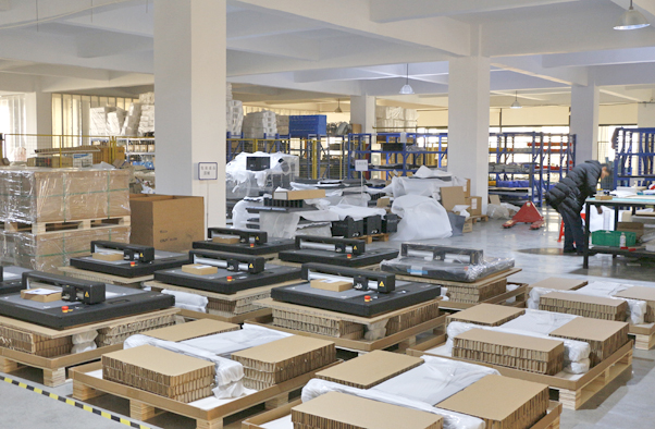 warehouse of flatbed cutter