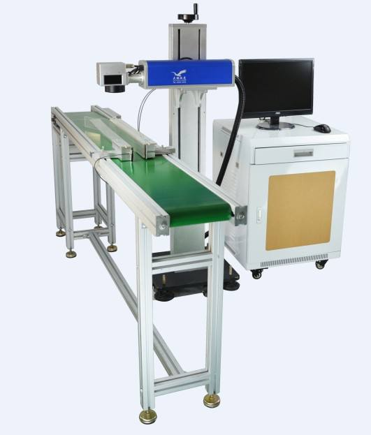 Vertical Type Fiber Laser Marking Machine