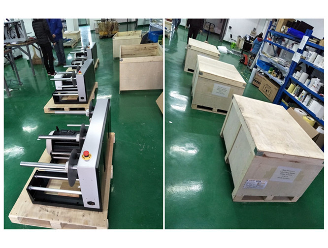 Roll label cutter plywooden packing box