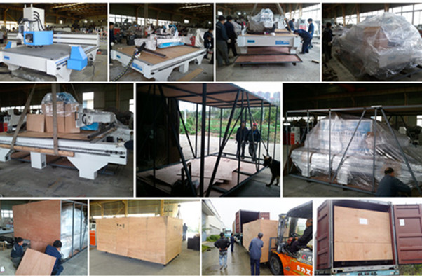 CNC Router Plywooden Box with Iron Pallet Package