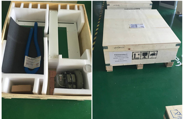 Flatbed cutter packing box